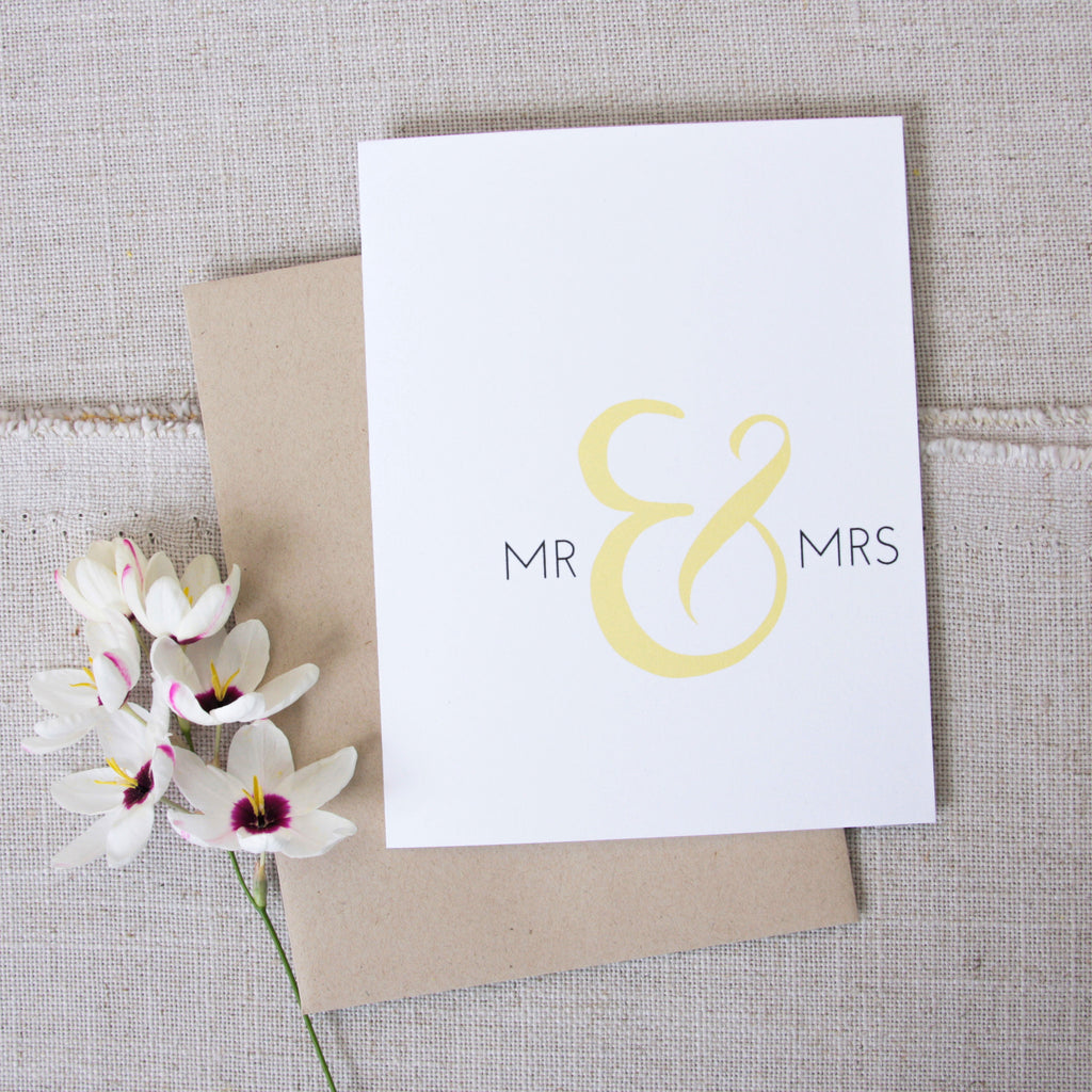 Mr & Mrs Wedding Congratulations Card
