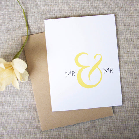 Mr & Mr Wedding Congratulations Card
