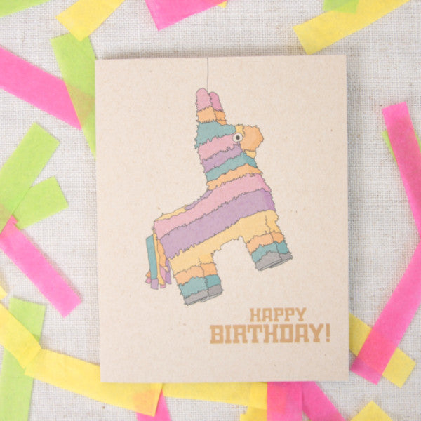 Illustrated Piñata Birthday Card