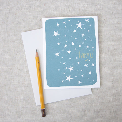 Starry Sky Thank You Card