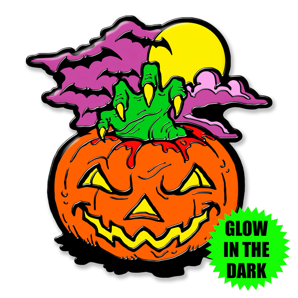 All Things Halloween Glow In The Dark Enamel Pin Terrorthreads