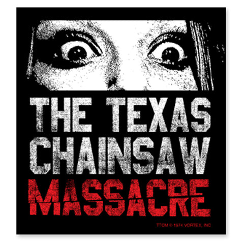 Texas Chainsaw Massacre Don't Look Now Sticker - TerrorThreads