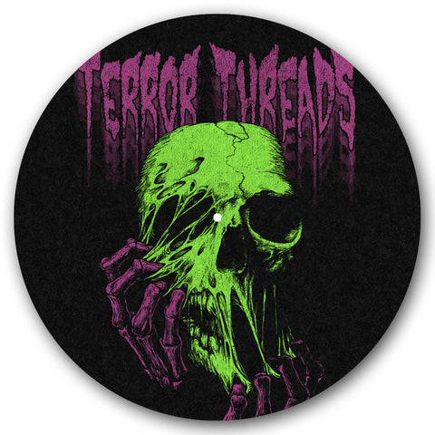 Face Melt Turntable Slipmat - TerrorThreads