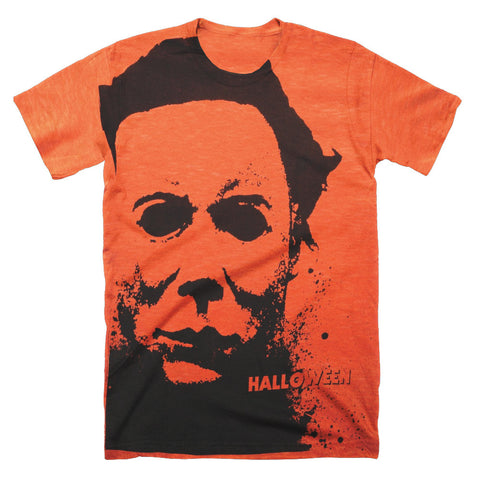 Halloween Splatter Mask Subway T-Shirt - TerrorThreads