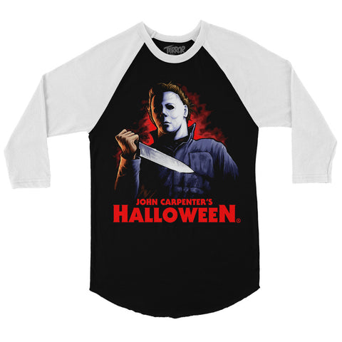 Halloween He Came Home Baseball T-Shirt
