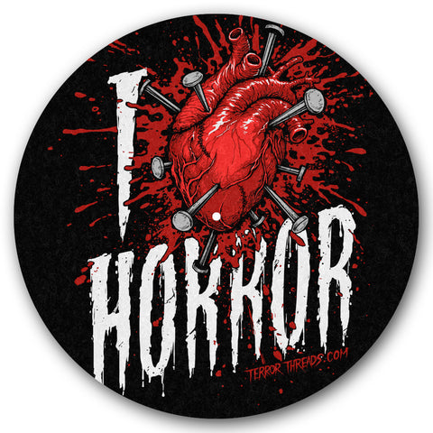 I Love Horror Turntable Slipmat - TerrorThreads