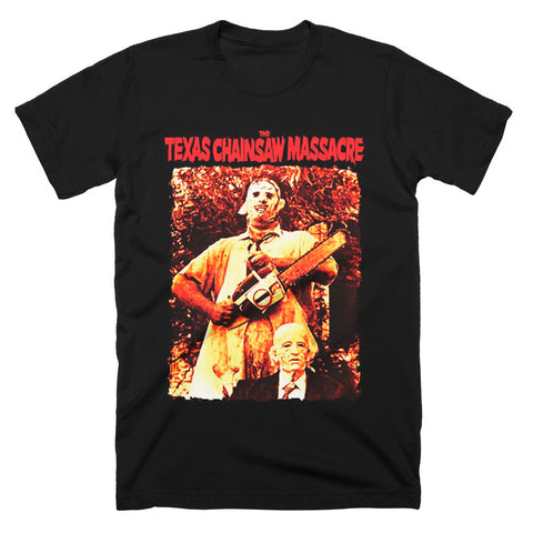 Texas Chainsaw Massacre Leatherface and Grandpa T-Shirt - TerrorThreads