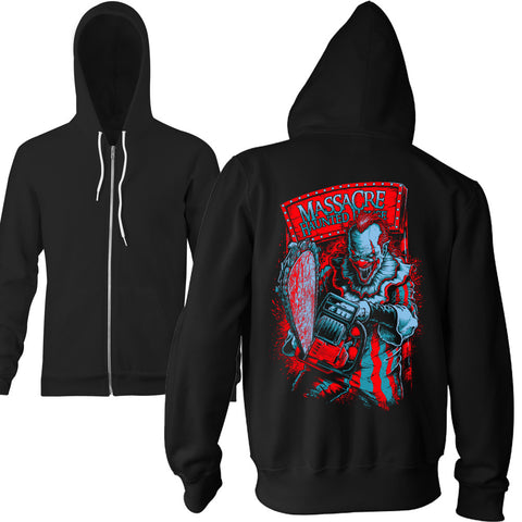 Massacre Killer Clown Zip Hoodie - TerrorThreads