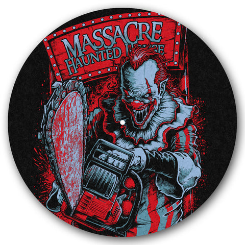 Massacre Killer Clown Turntable Slipmat - TerrorThreads