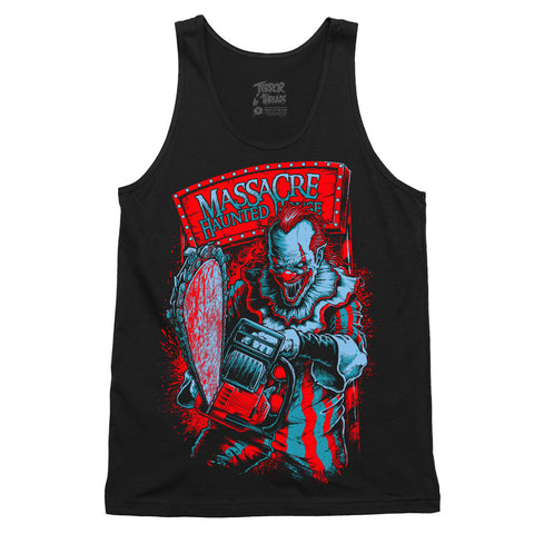 Massacre Killer Clown Tank Top - TerrorThreads