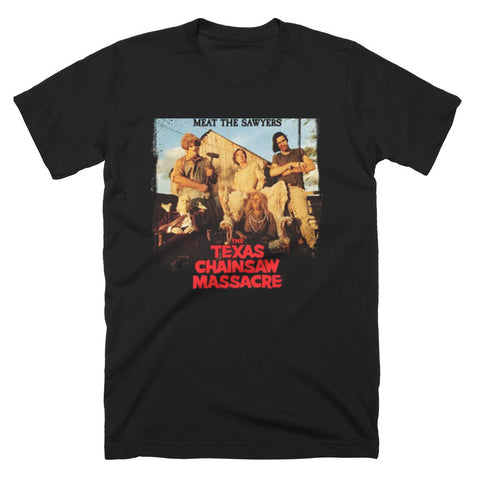 Texas Chainsaw Massacre Meat The Sawyers T-Shirt - TerrorThreads