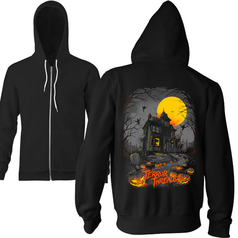 The Menacing Manor Zip Hoodie - TerrorThreads