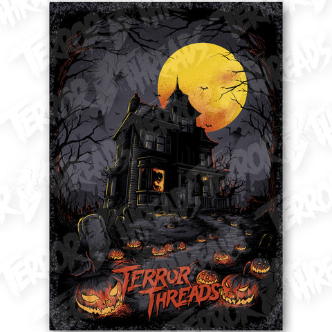 The Menacing Manor Poster Print - TerrorThreads