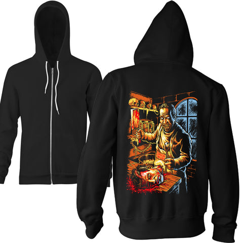 Midnight Chop Shop Zip Hoodie - TerrorThreads