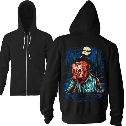 Limited Edition Nightmare On Crystal Lake Zip Hoodie - TerrorThreads