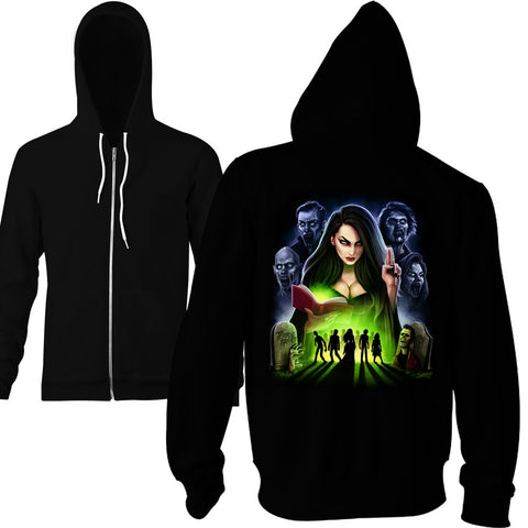 Queen Of The Dead Zip Hoodie