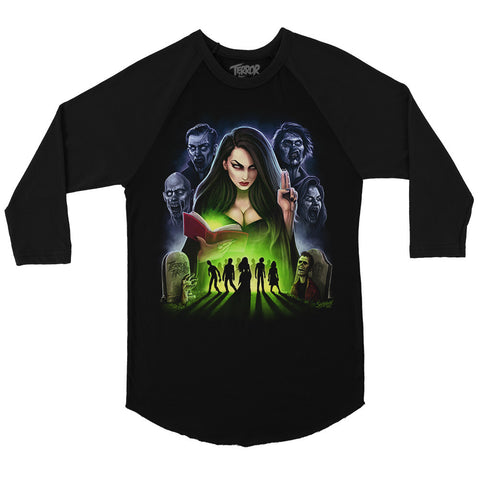 Queen Of The Dead Baseball T-Shirt