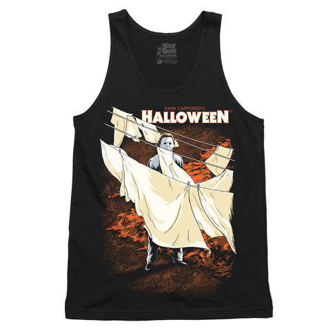 Halloween Scared To Death Tank Top - TerrorThreads