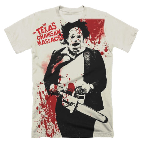 Texas Chainsaw Massacre Spatter Subway T-Shirt - TerrorThreads