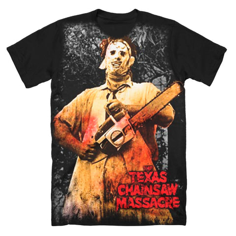 Texas Chainsaw Massacre Full Color Subway T-Shirt - TerrorThreads