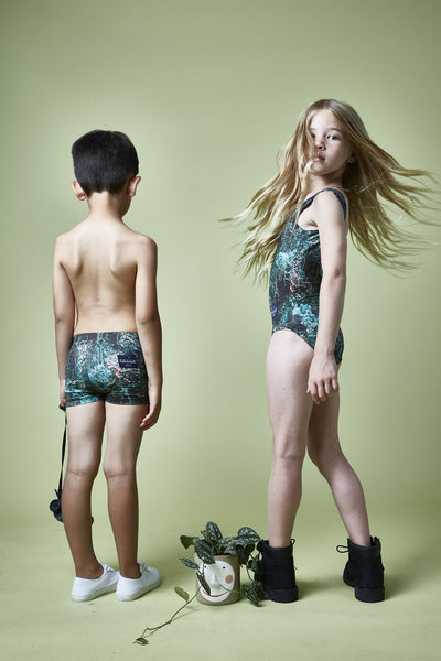 BACKLESS SWIMSUIT - JANGAL FOREST