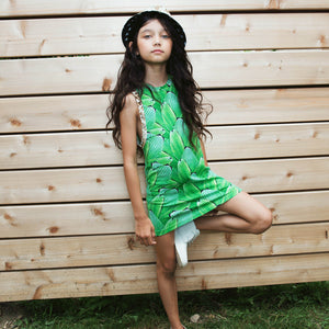 Tank Dress - Pleat Jungle