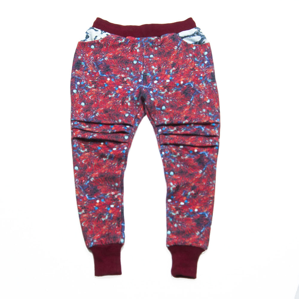 Drop-Crotch Sweatpant  - Pineberrry Wine