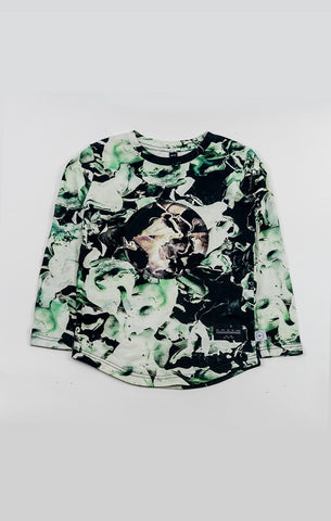 Long Slv Tee - Fungi Emerald