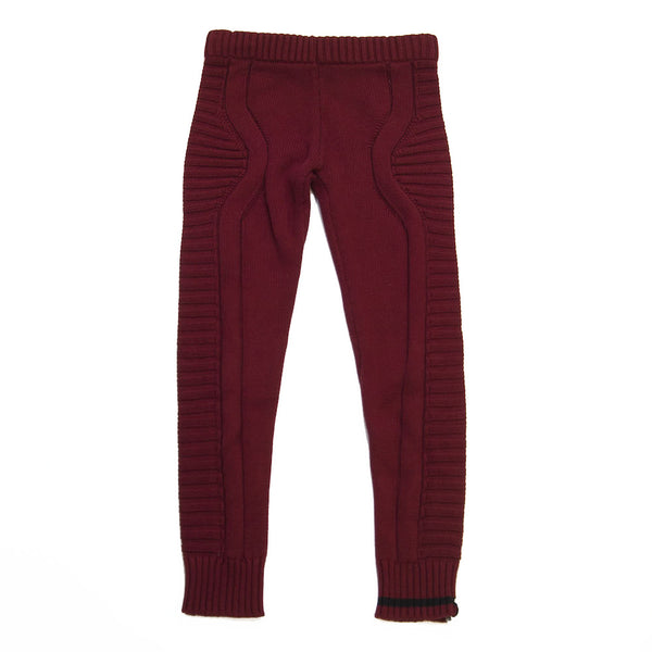 knit legging- Burgundy