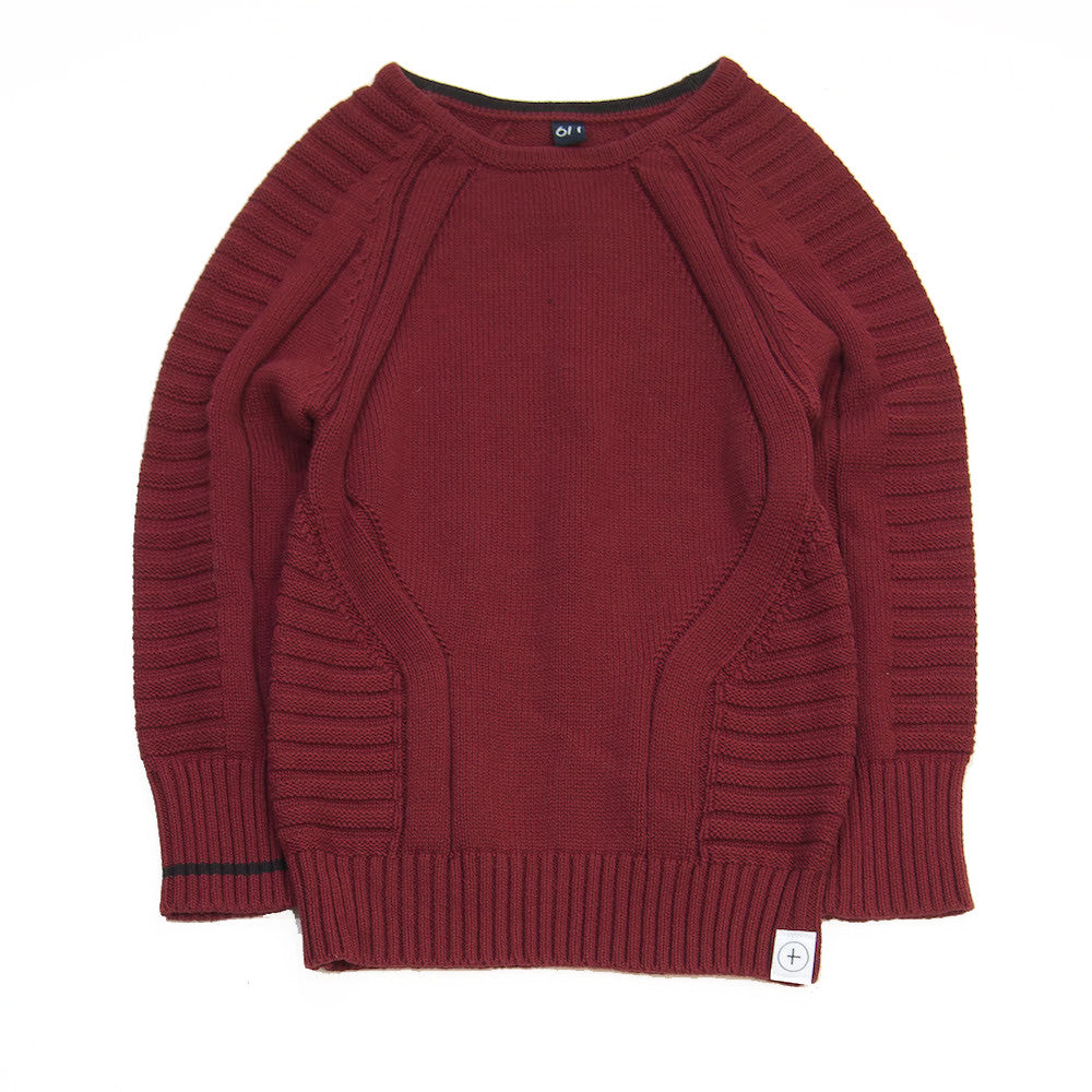 knit pullover- Burgundy