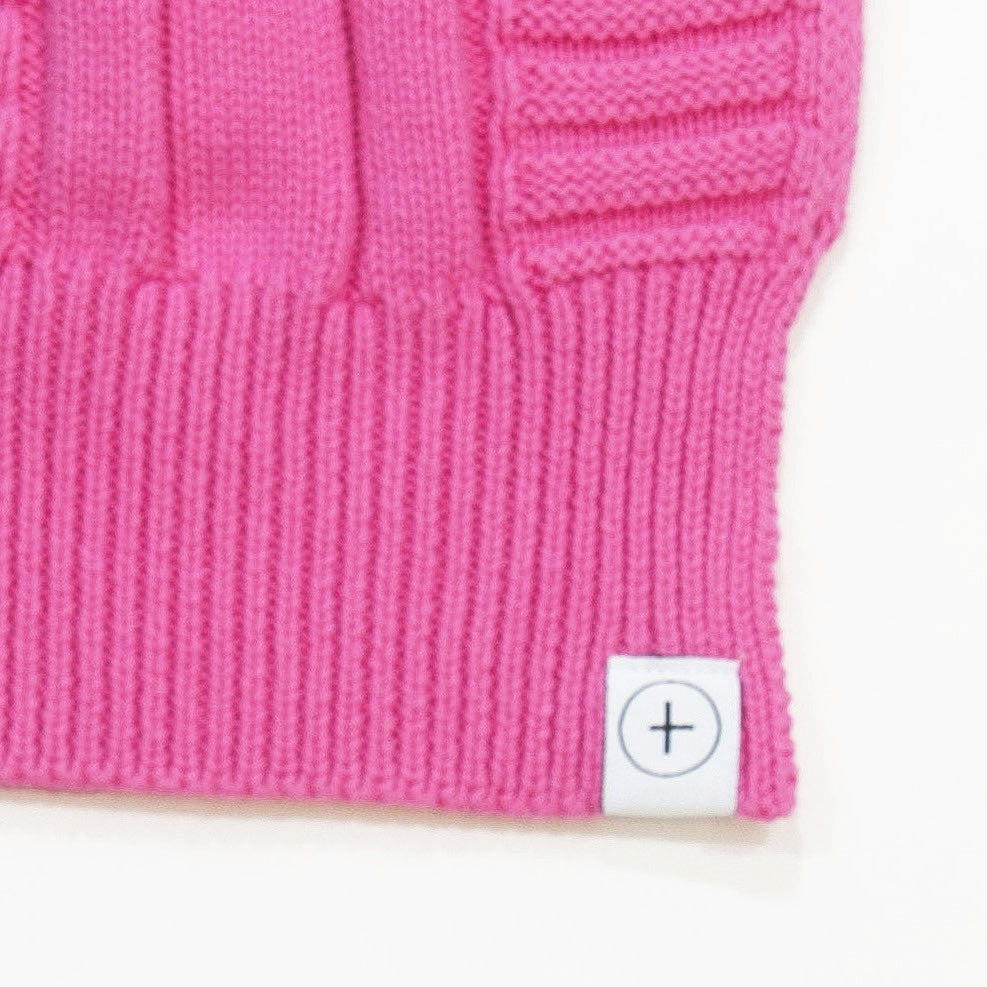 knit scarf- Pink