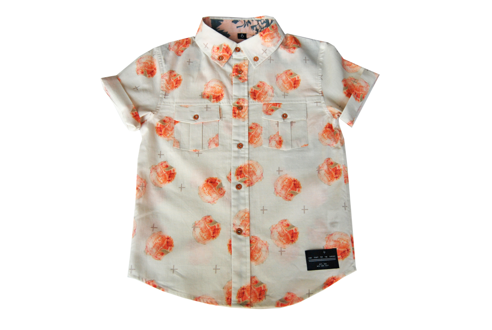 button down-Guava Peach