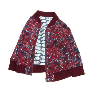 2-way bomber jacket- Pineberry Wine