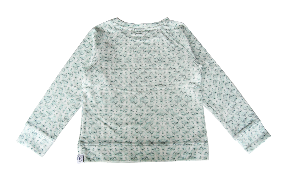 Sweatshirt - Cow Mint