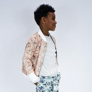 2-way bomber jacket-Rock Sand