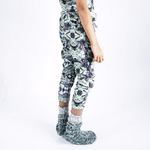 drop-crotch legging- Leaf Mint