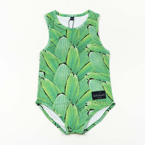 Racerback Swimsuit - Pleat Jungle