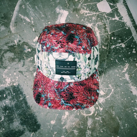 5 panel hat- Pineberry Wine