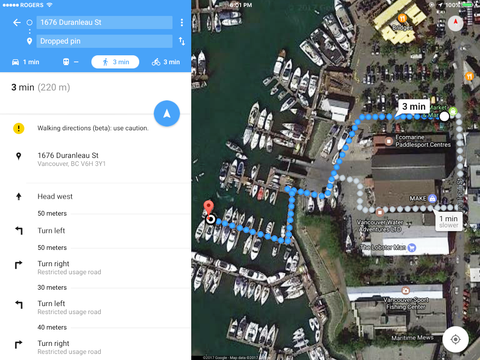 Google Map of Joe's BBQ Boat location on Granville Island