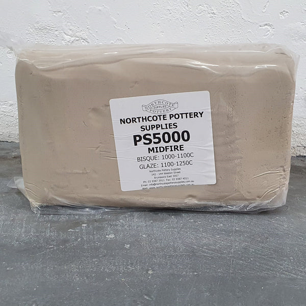 PS5000 - White Midfire Clay 10kg