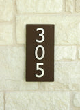 "Home Sweet Home Address Plaque (16""H x 8""W) - with Silver or Brass Numbers"