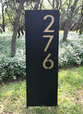 Rio Grande Yard Sign w/ Silver or Brass Numbers