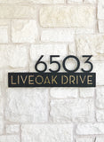Liveoak Address Plaque