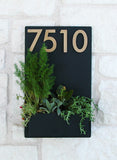"East Side Planter (20""H x 12""W) w/ Silver or Brass Numbers"
