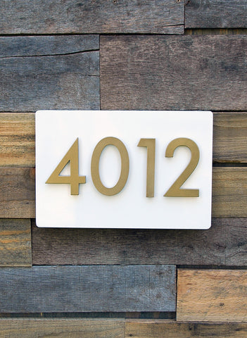 First Impression Address Plaque (8