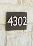 "First Impression Address Plaque (8""H x 12""W) - with Silver or Brass Numbers"