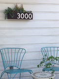 Clarkesville Planter w/ Silver or Brass Numbers