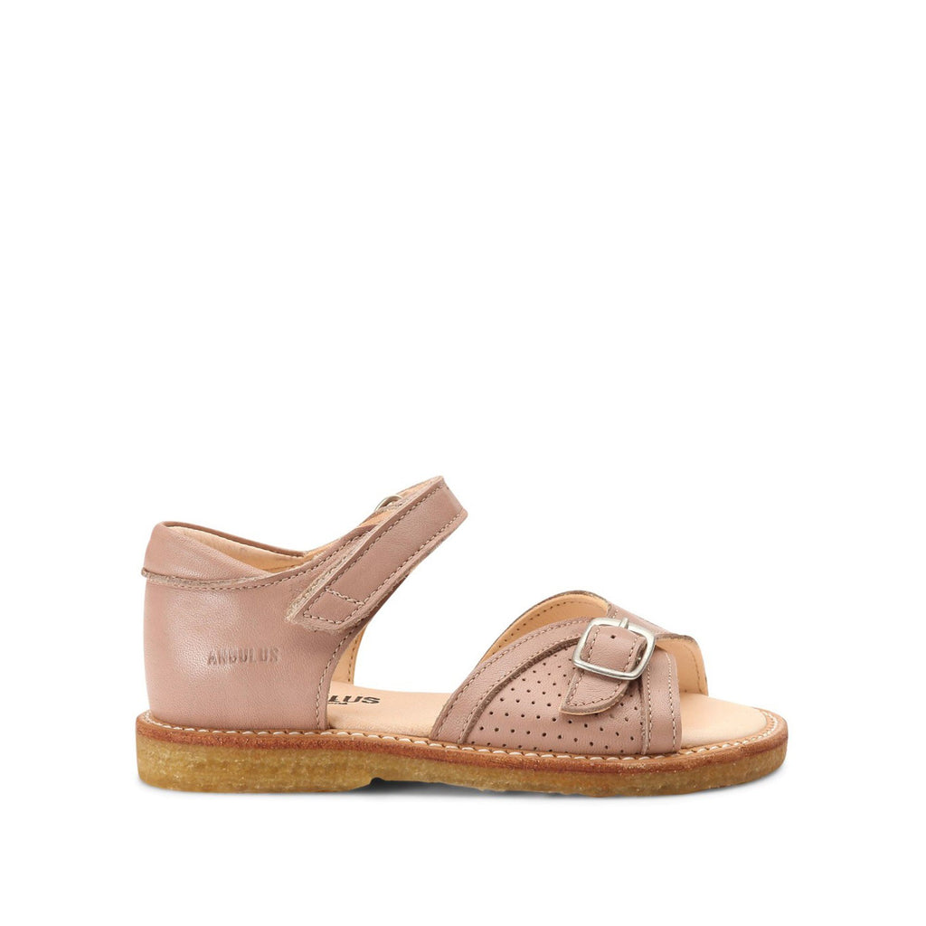 Blush Sandal with Velcro Fastening