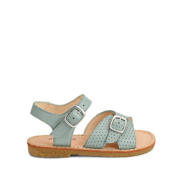 Dusky Mint Sandal with Buckle Detail