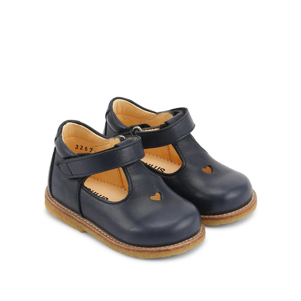 Navy Mary janes with velcro strap
